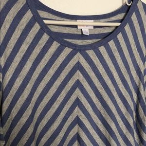 LuLaRoe Tops - Stripped blue and grey top